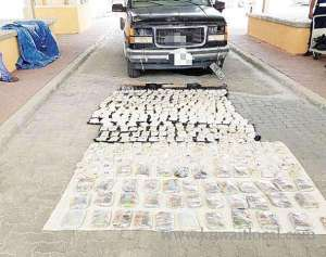 iraqi-man-to-smuggle-41kilos-of-hashish-and-400,000-narcotic-pills-_kuwait