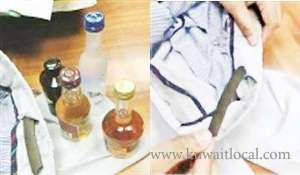 egyptian-arrested-for-trying-to-smuggle-hashish-and-4-bottles-of-alcohol-_kuwait