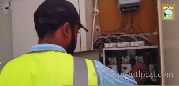 kuwait-power-supply-disconnected-to-15-houses-that-were-rented-to-bachelors-in-farwaniya-hawally-and-ahmadi-areas-in-coordination-with-moew_kuwait