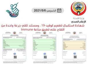 3-types-of-vaccination-certificates-issued-for-those-vaccinated_kuwait