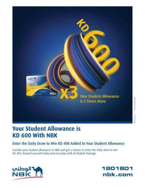 your-student-allowance-is-kd-600-with-nbk in kuwait
