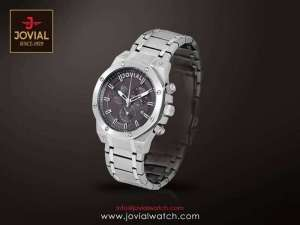 jovial-chronograph-gents-metal-watch-silver in kuwait