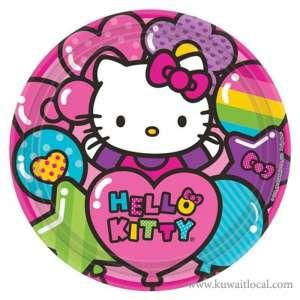 hello-kitty-rainbow-party-plates-kuwait